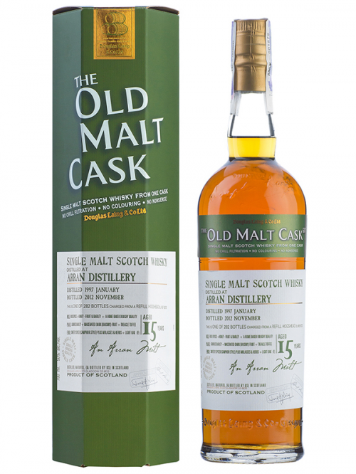 ARRAN 15 YEAR 1997 - 2012 OLD MALT CASK  SINGLE MALT