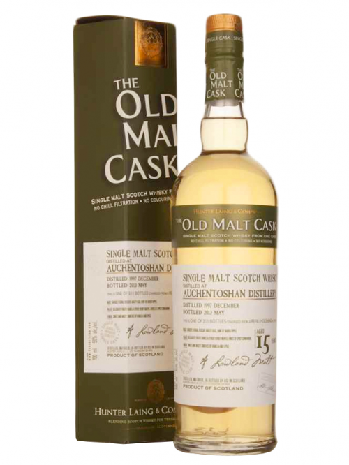 AUCHENTOSHAN 15 YEAR 1997 - 2012 OLD MALT CASK  SINGLE MALT
