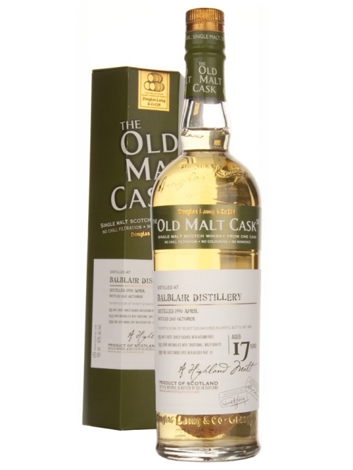 BALBLAIR 17 YEAR 1990 OLD MALT CASK SINGLE MALT