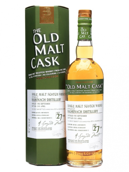 BALMENACH 27 YEAR  1983 - 2010 OLD MALT CASK SINGLE MALT
