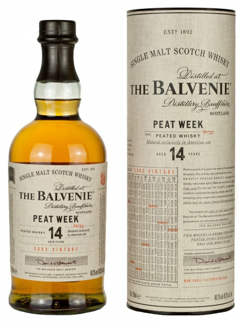 BALVENIE 14 YEARS PEAT WEEK single malt