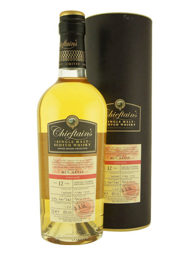 BEN NEVIS 12 YEAR 1999 - 2011CHIEFTAINS  SINGLE MALT