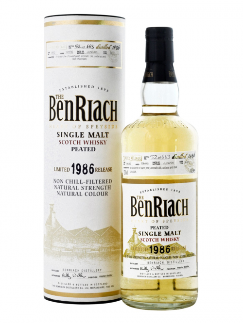 BENRIACH 19 YEAR OLD 1986 LIMITED RELEASE