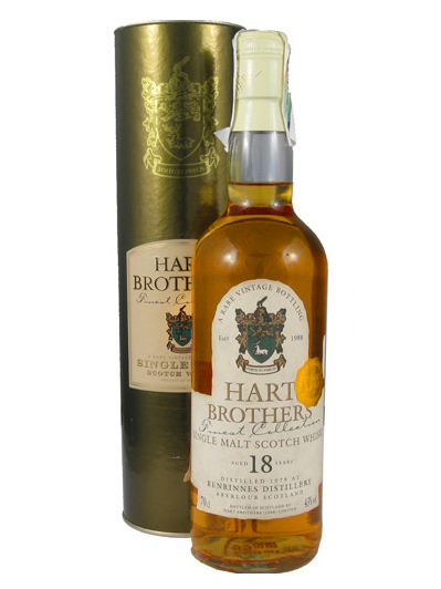 BENRINNES 18 YEAR 1979 - 1997 HART BROTHERS  SINGLE MALT