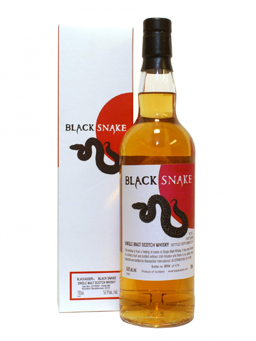 BLACK SNAKE  BLACKADDER SINGLE MALT