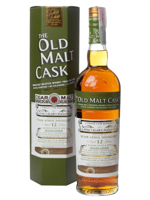 BLAIR ATHOL 12 YEAR 1999 - 2011 OLD MALT CASK  SINGLE MALT
