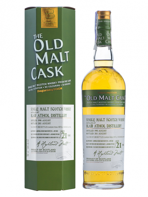 BLAIR ATHOL 21 YEAR 1990 - 2011 OLD MALT CASK  SINGLE MALT