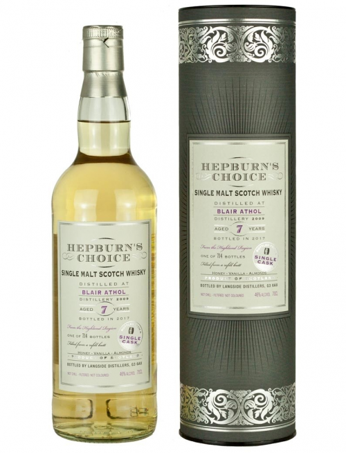 BLAIR ATHOL 7 YEARS HEPBURN'S CHOICE single malt