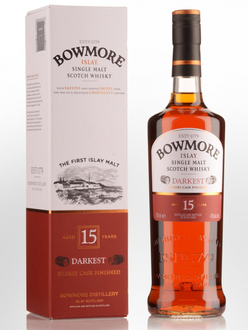 BOWMORE 15 YEARS DARKEST CSHERRY CASK FINISHED single malt