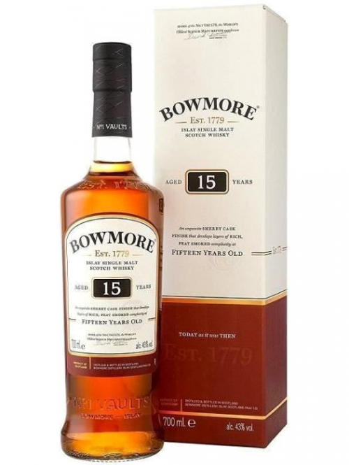 BOWMORE 15 YEARS single malt