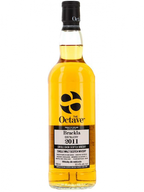 BRACKLA 8 YEARS 2011 OCTAVE single malt