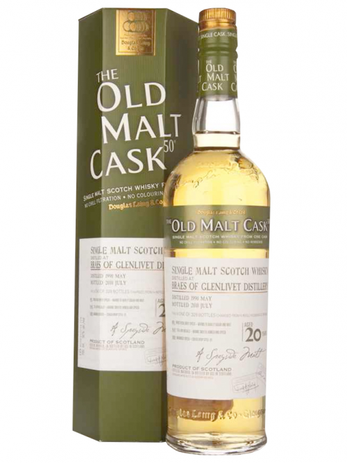 BRAES OF GLENLIVET 20 YEAR 1989 OLD MALT CASK SINGLE MALT