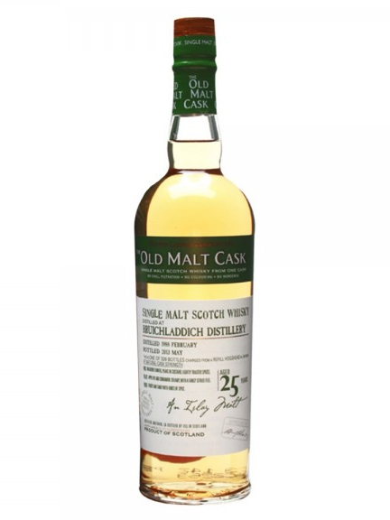 BRUICHLADDICH  25 YEAR 1988 - 2013 OLD MALT CASK  SINGLE MALT