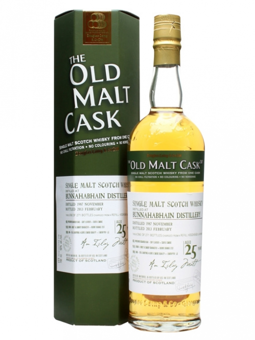 BUNNAHABHAIN 25 YEAR 1987 - 2012 OLD MALT CASK  SINGLE MALT