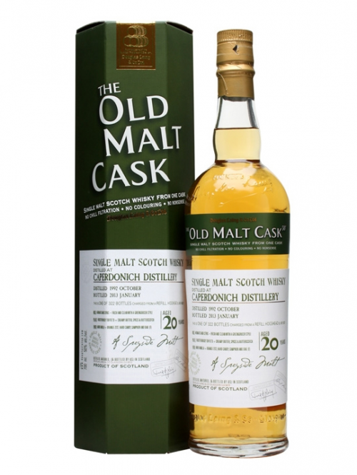 CAPERDONICH 20 YEAR  1992 OLD MALT CASK SINGLE MALT