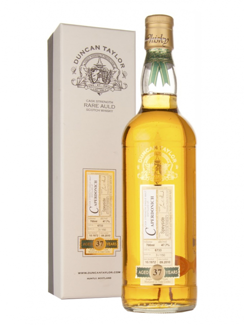 CAPERDONICH 37 YEAR 1972 - 2009 DIMENSIONS  SINGLE MALT