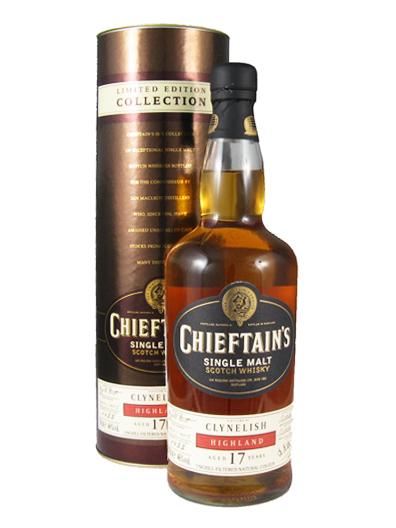 CLYNELISH 17 YEAR 1991 - 2008 CHIEFTAINS  single malt