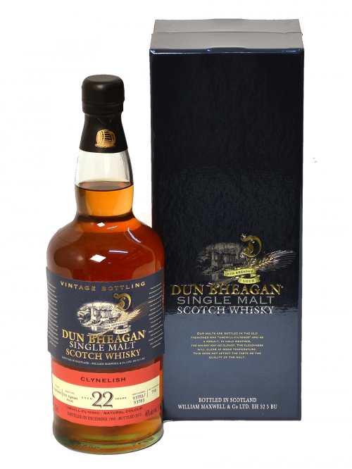 CLYNELISH 22 YEAR 1990 - 2012 DUN BHEAGAN  SINGLE MALT