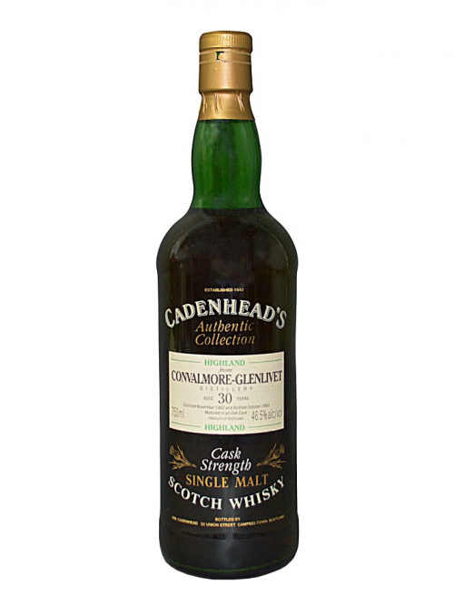 CONVALMORE GLENLIVET 30 YEARS 1962-1993 CADENHEAD'S single malt