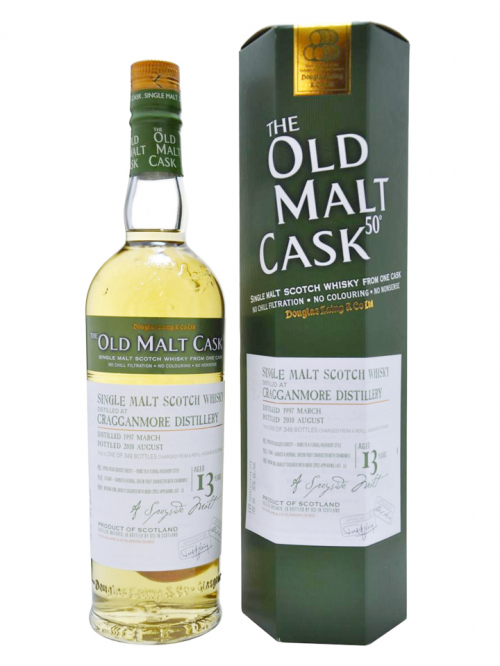 CRAGGANMORE 13 YEAR 1997 - 2010 OLD MALT CASK  SINGLE MALT