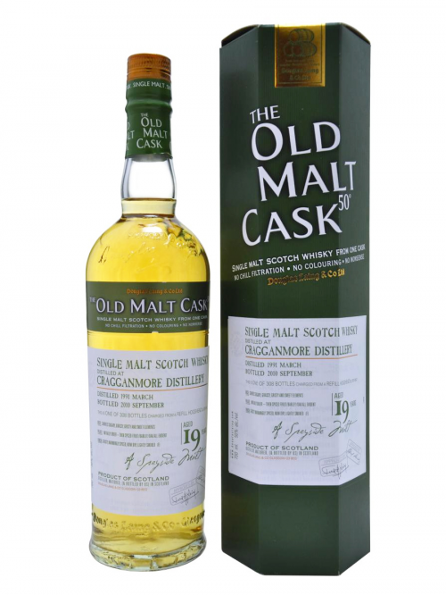 CRAGGANMORE 19 YEAR 1991 OLD MALT CASK SINGLE MALT