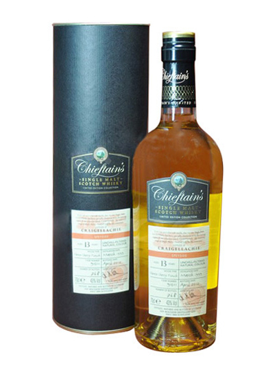 CRAIGELLACHIE 13 YEARS 1999 CHIEFTAIN'S single malt
