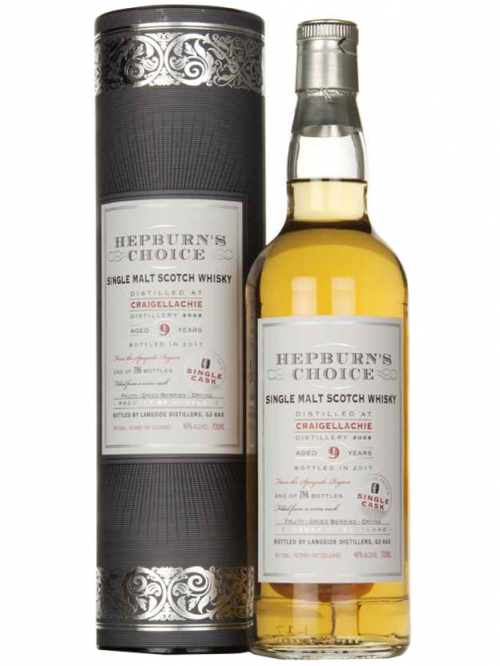 CRAIGELLACHIE 9 YEARS HEPBURN'S CHOICE single malt