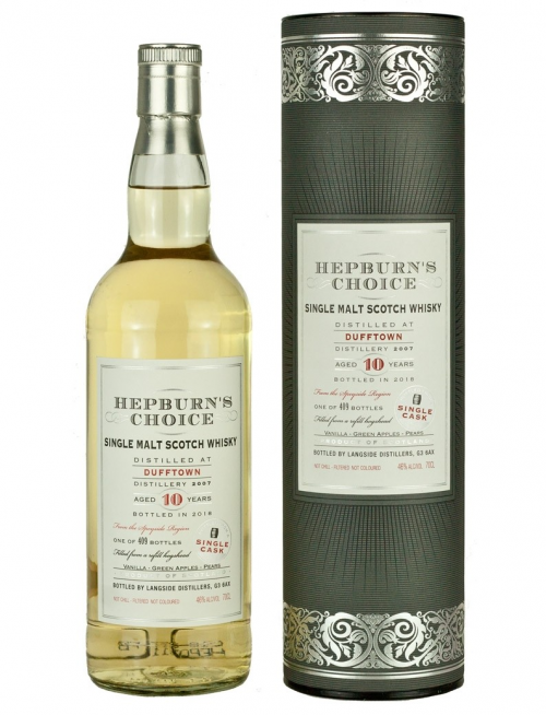DUFFTOWN 10 YEARS HEPBURN'S CHOICE single malt