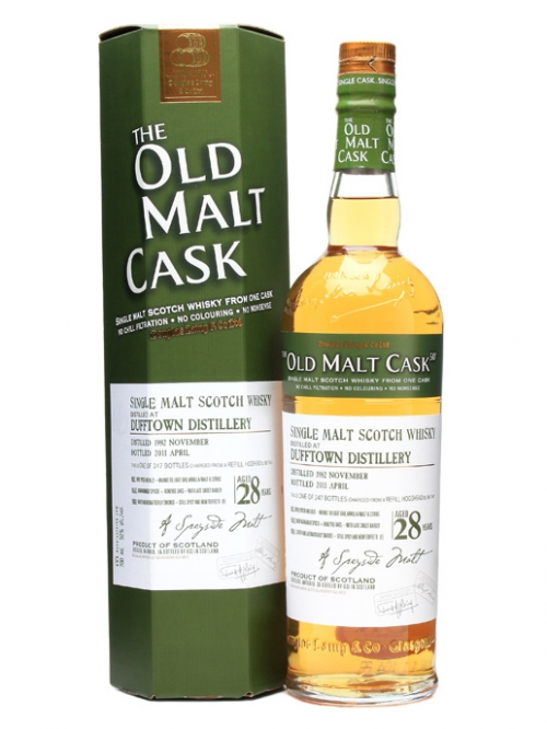 DUFFTOWN 28 YEAR 1982 OLD MALT CASK  SINGLE MALT