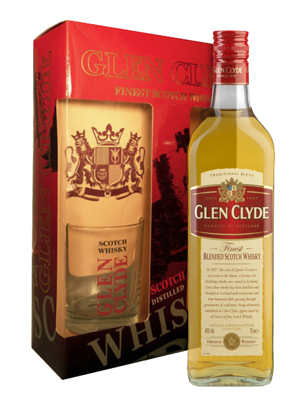 GLEN CLYDE BLEND GB WITH A GLASS
