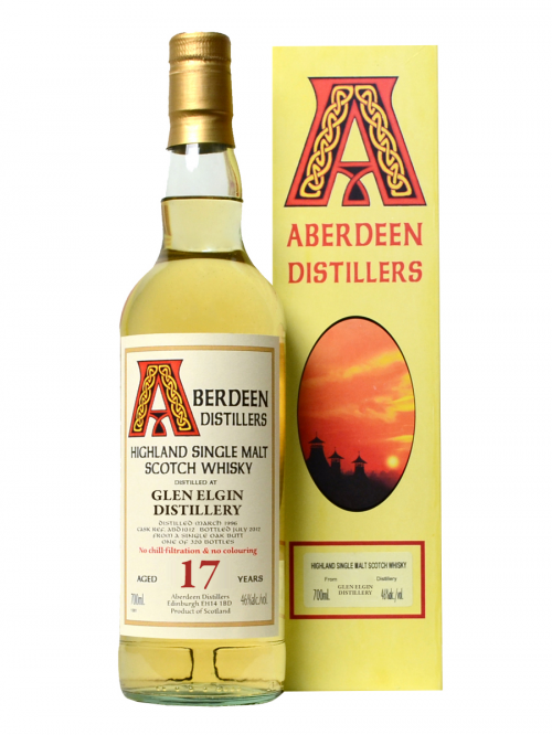 GLEN ELGIN 17 YEAR  1991 - 2008  ABERDEEN  SINGLE MALT