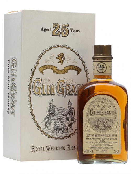 GLEN GRANT 25 YEAR OLD ROYAL WEDDING RESERVE