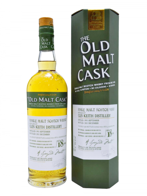 GLEN KEITH 18 YEAR  1993 OLD MALT CASK SINGLE MALT