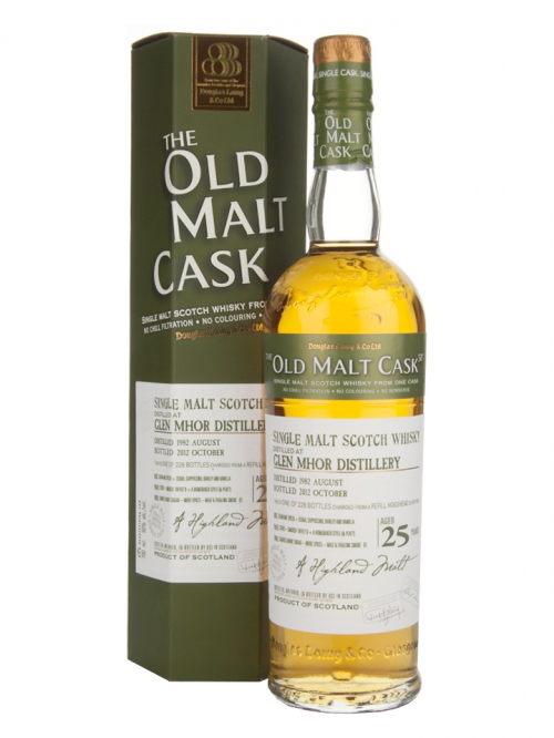 GLEN MHOR 25 YEAR 1975 - 2000 OLD MALT CASK  SINGLE MALT