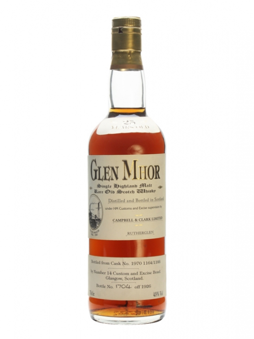 GLEN MHOR 25 YEAR OLD 1970 CAMPBELL & CLARK LIMITED