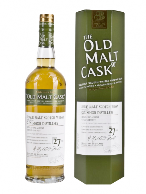 GLEN MHOR 27 YEAR 1982 - 2009  OLD MALT CASK SINGLE MALT