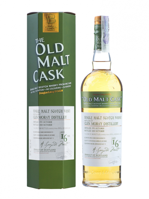 GLEN MORAY 16 YEAR 1991 - 2007 OLD MALT CASK  SINGLE MALT