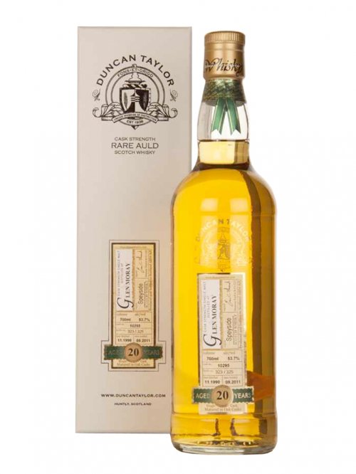 GLEN MORAY  20 YEAR 1990 - 2010 RARE AULD  SINGLE MALT