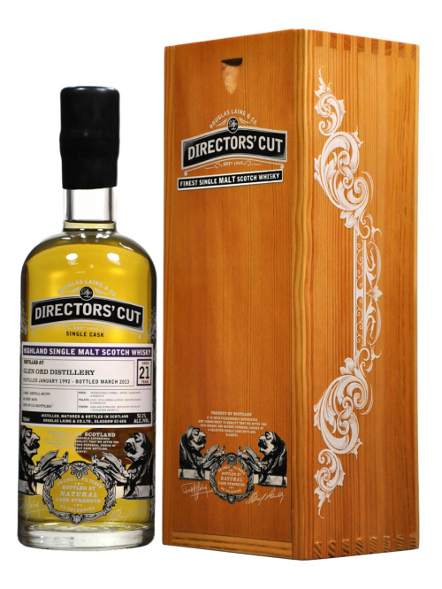 GLEN ORD 21 YEAR 1992 - 2013 DIRECTORS CUT  SINGLE MALT