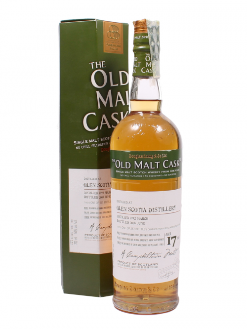 GLEN SCOTIA 17 YEAR 1992 - 2009 OLD MALT CASK  SINGLE MALTS