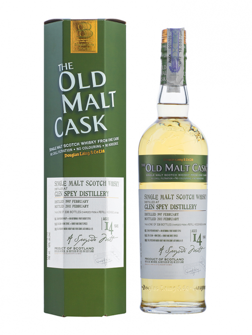 GLEN SPEY 14 YEAR  1997 - 2011 OLD MALT CASK SINGLE MALT
