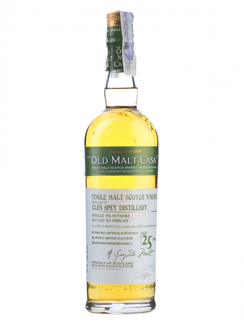 GLEN SPEY 25 YEAR  1986 - 2011 OLD MALT CASK SINGLE MALT