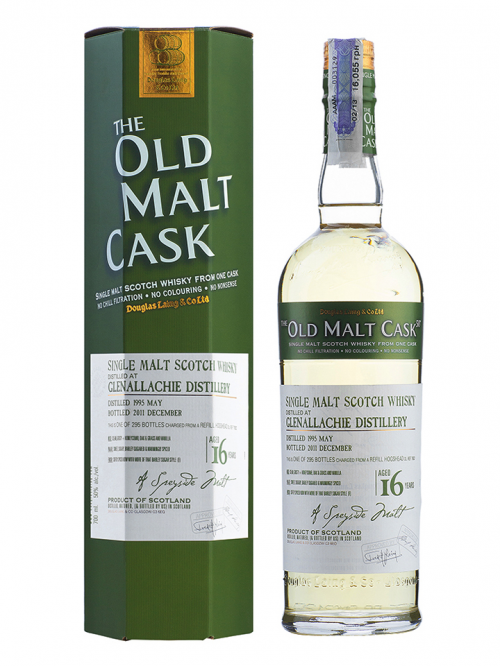 GLENALLACHIE 16 YEAR 1995 - 2011 OLD MALT CASK SINGLE MALT