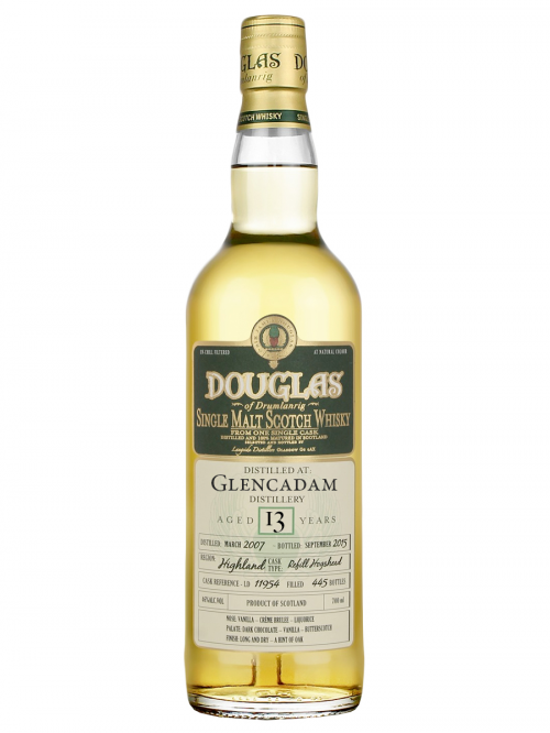 GLENCADAM 13 YEAR 1998 - 2011 DOUGLAS OF DRUMLANRIG  SINGLE MALT