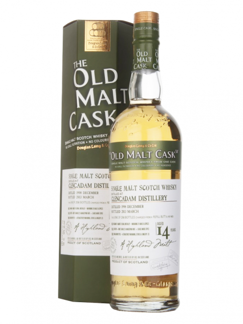 GLENCADAM 14 YEAR 1998 - 2012 OLD MALT CASK  SINGLE MALT
