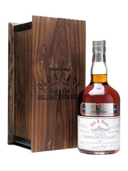 GLENCADAM 32 YEAR 1977 - 2009 OLD & RARE  SINGLE MALT