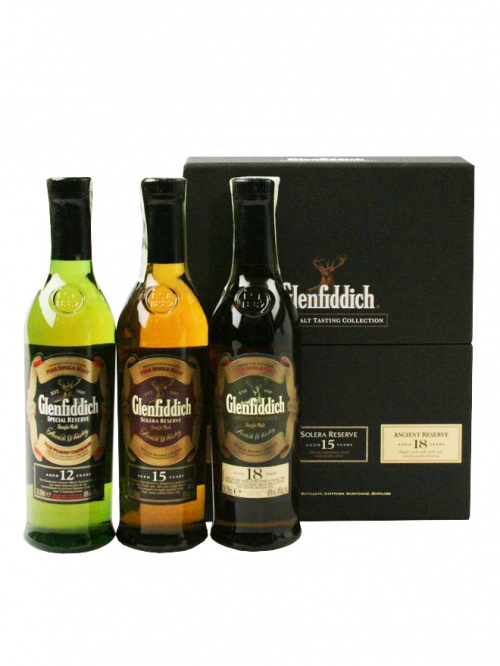 Glenfiddich Collection 3x20cl 12, 15, 18 Year Old