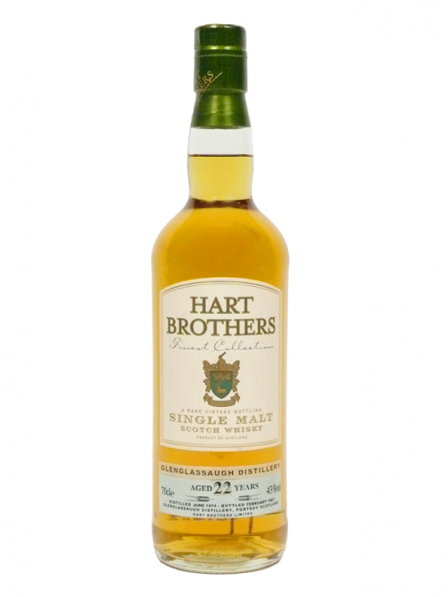 GLENGLASSAUGH 22 YEARS 1974 HART BROTHERS single malt