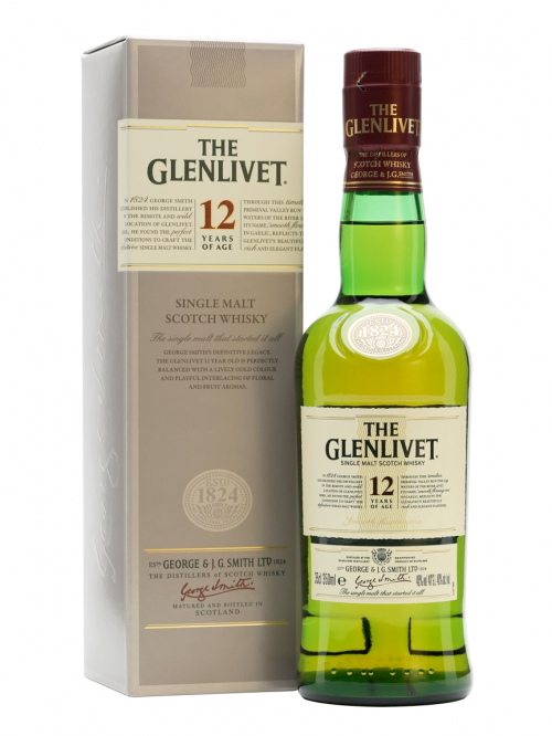 GLENLIVET 12 YEAR  SINGLE MALT