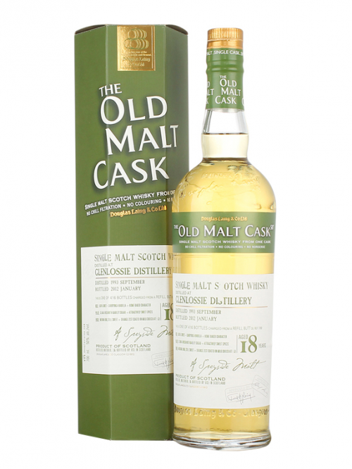 GLENLOSSIE 18 YEAR 1993 - 2011 OLD MALT CASK  SINGLE MALT